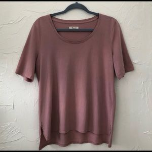 Madewell Riff Tee in Mauve Shadow